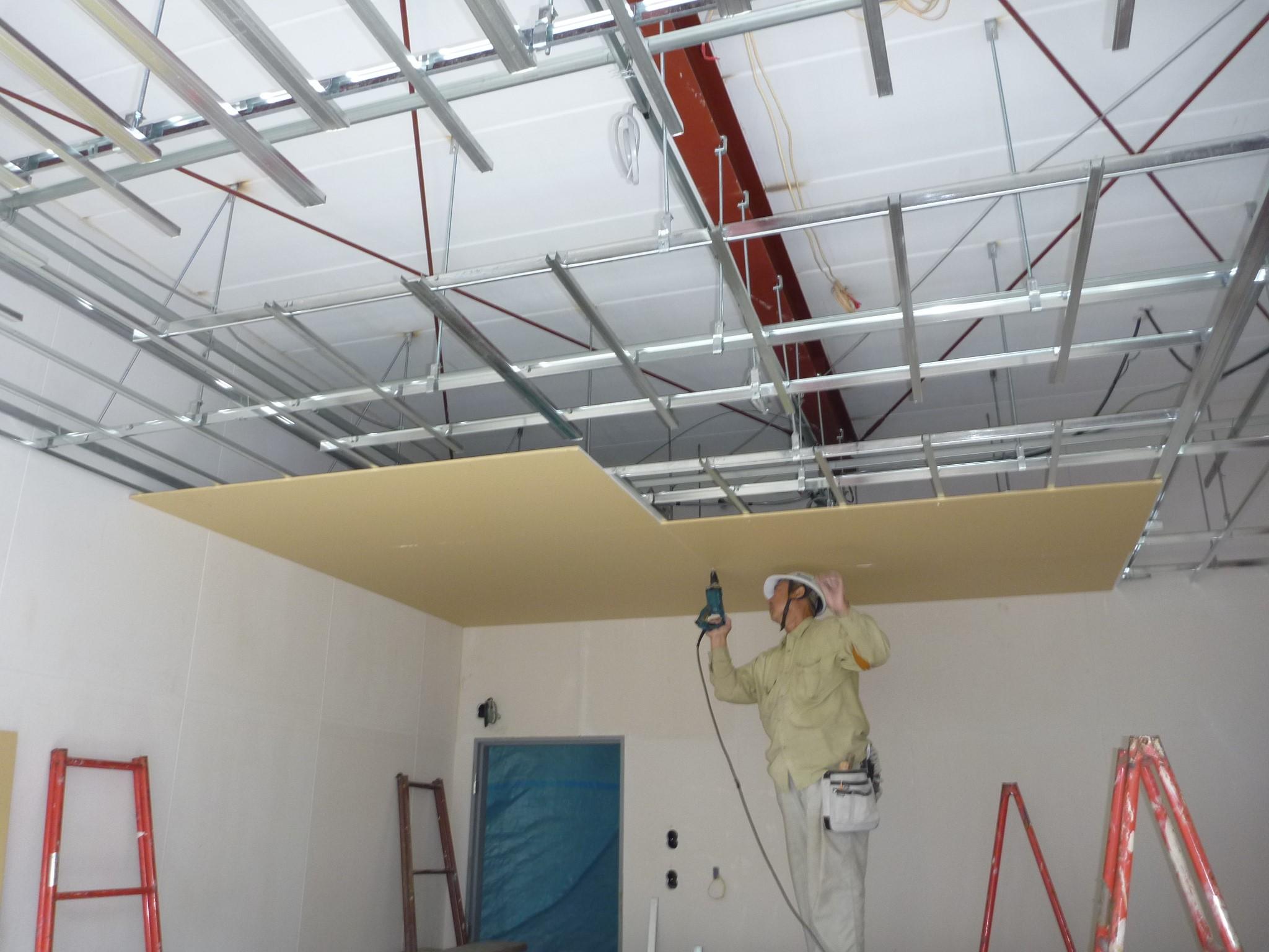 天井材 下地貼り