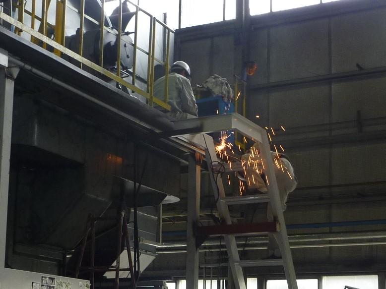 階段設置(溶接)