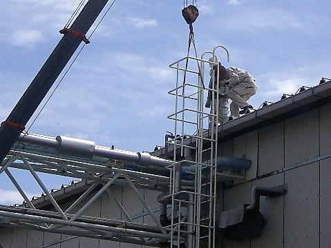 梯子ガード製作・設置