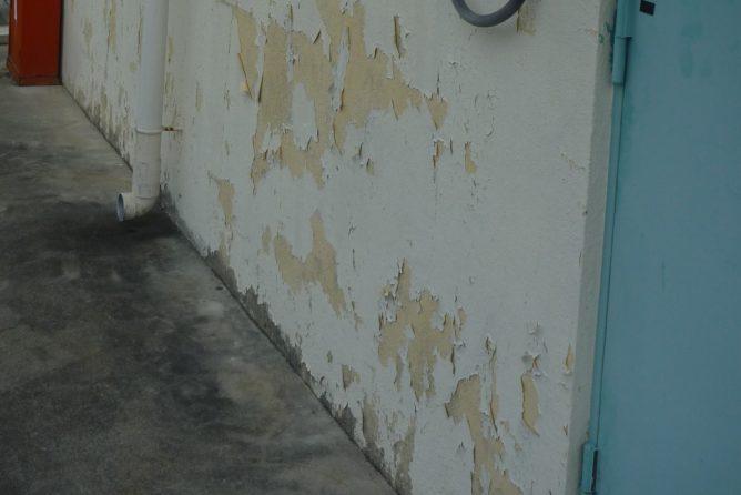 塗装前 壁面剥離