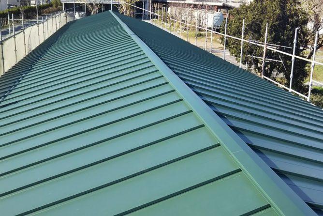 屋根立平葺き