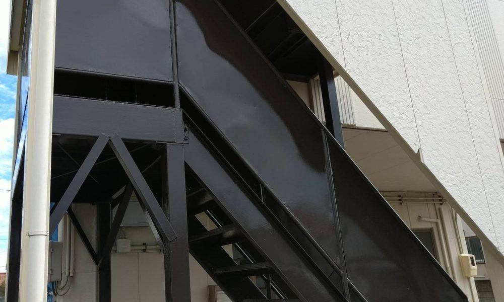 事務所屋外階段塗装工事
